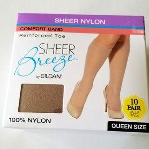 Knee High Womens  Stockings 10 Pairs